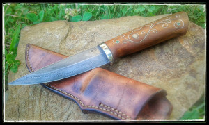 Knife with hand forged silversteel blade 4